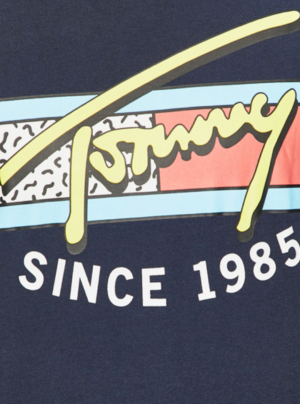 Tricou TOMMY HILFIGER Jeans Neon Script detaliu